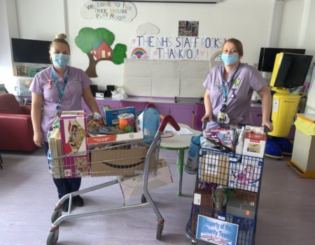 Children's ward donation from Amazon wishlist
