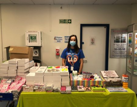 Fundraising stall at the hospital