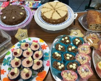 Cakes at a cake sale