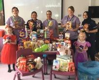 Easter egg donation on the Children's Ward