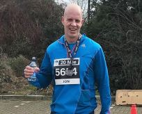 Jon Reep training for the marathon