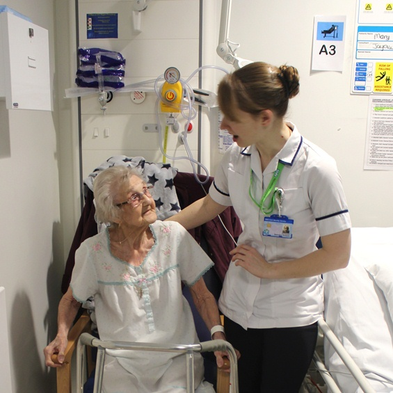 Occupational Therapist with an elderly patient