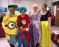 Staff and children dressed up for World Book Day 2018