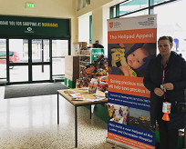 Collection stand at Morrions, Houghton Regis