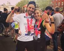 Elliott and Tash Stern at the London Marathon 2018