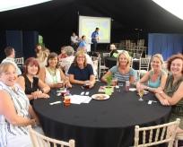 Team of staff members at the Charity Bingo Night