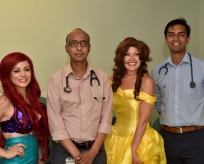 Disney Princesses with consultants at the hospital