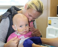 Child patient with cancer
