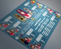 Elliott Quince's world cup wall chart