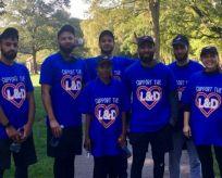 Staff from Domino's running 5k