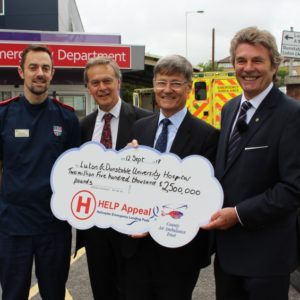 The HELP Appeal make an incredible donation towards our Helipad Appeal