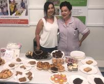Ward 15 HCA and daughter at cake sale