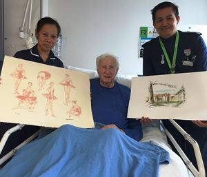 Renowned artist donates pictures to Ward 19