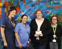 Cheque donation to the Children's Ward