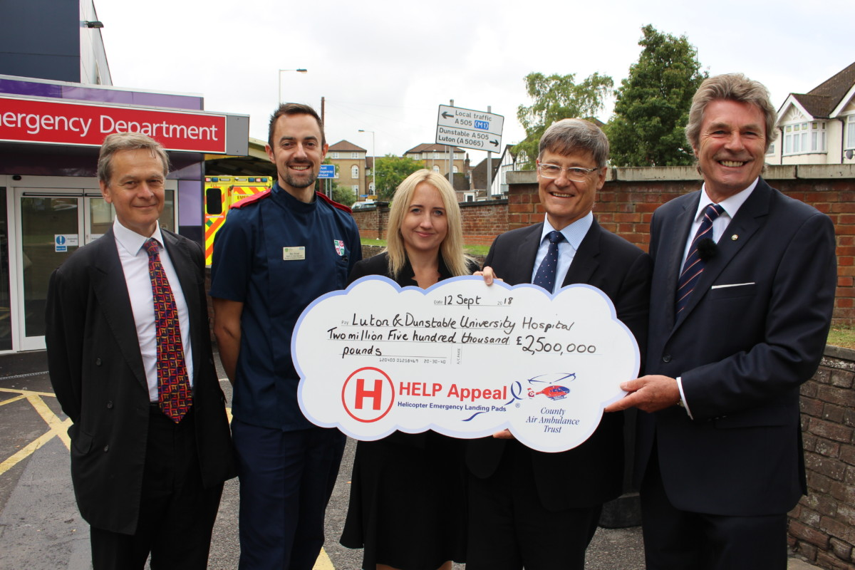 Donation from HELP for Helipad Appeal