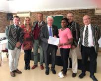 Cheque presentation at Luton Rugby Club