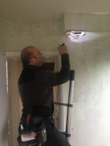 Danny providing a free asbestos survey
