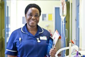 Nurse holding iPad
