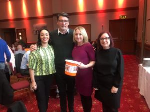 Fundraising team with Mick Harford