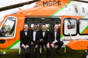 Members of the A&E team in MAPGAS helicopter