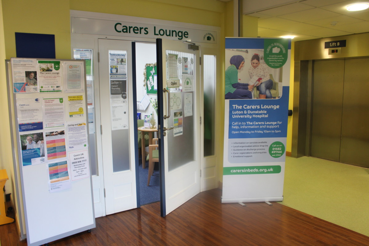 Carers in Beds lounge