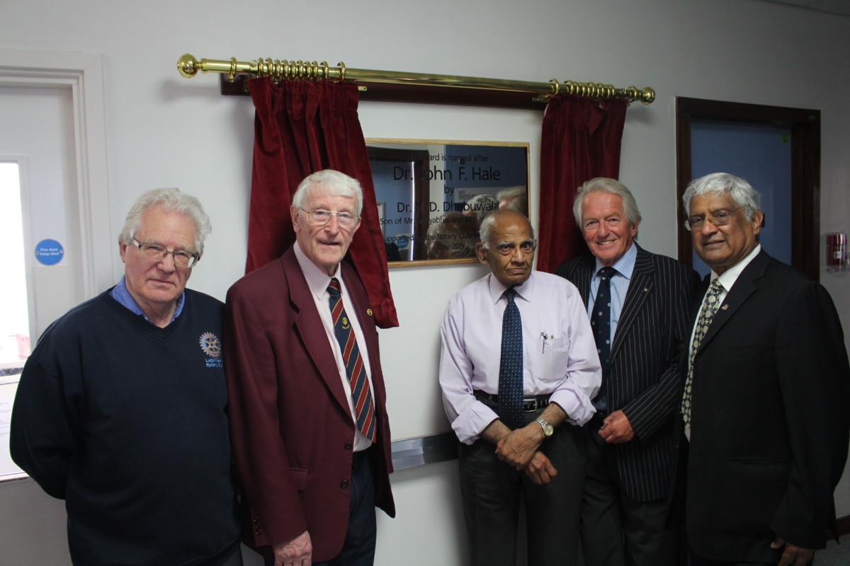 Luton North Rotary with Dr Dhabuwala