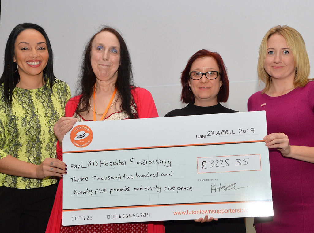 Luton Town Supporters Cheque Presentation
