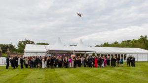 Guests waving off MAGPAS aircraft