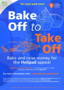 Bake off to take off poster