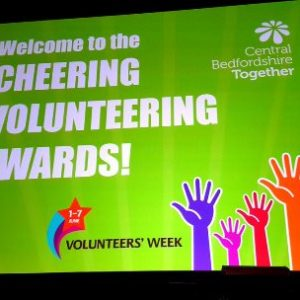 L&D volunteers honoured at Central Beds Cheering Volunteering Awards