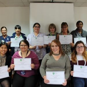 22 health care support workers achieve their diplomas