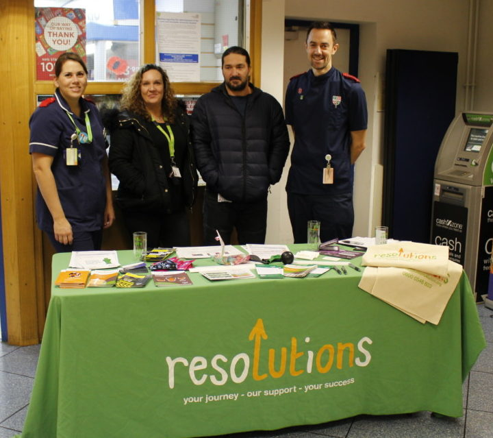Alcohol Awareness Stand in Main Reception