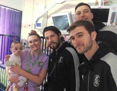 Hatters on childrens ward