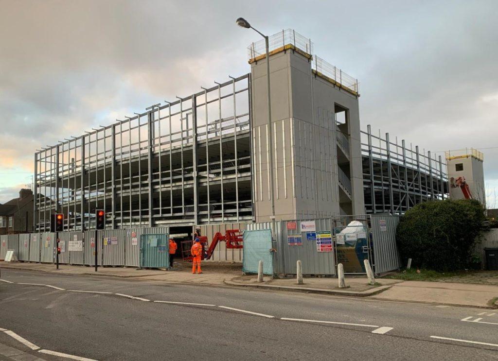 Lewsey Road car park progress